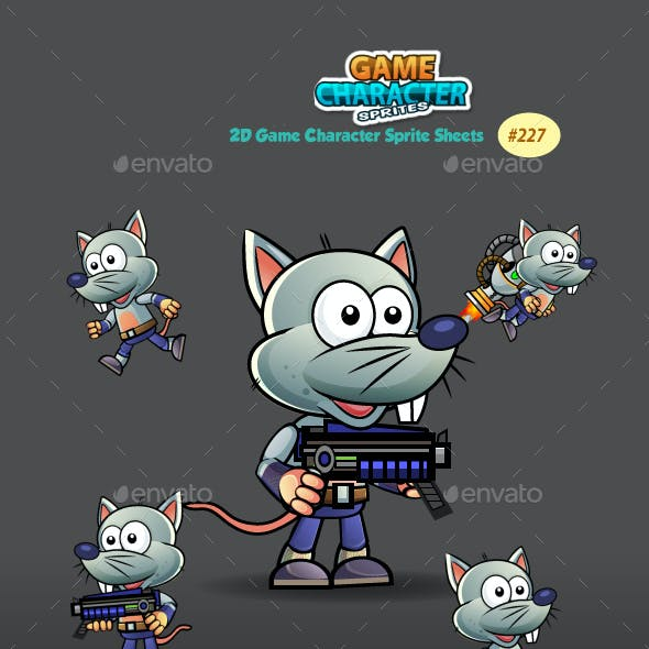 Rat Warrior Game Character Sprites 227