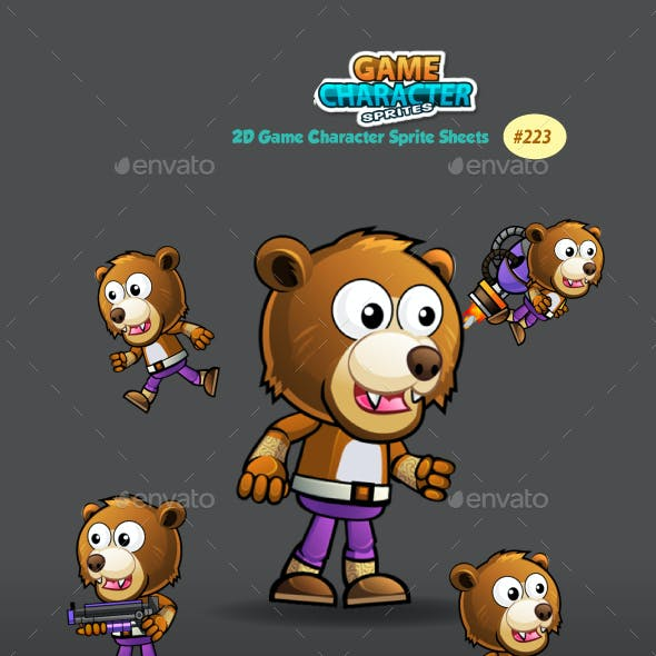 Bear Warrior Game Character Sprites 223