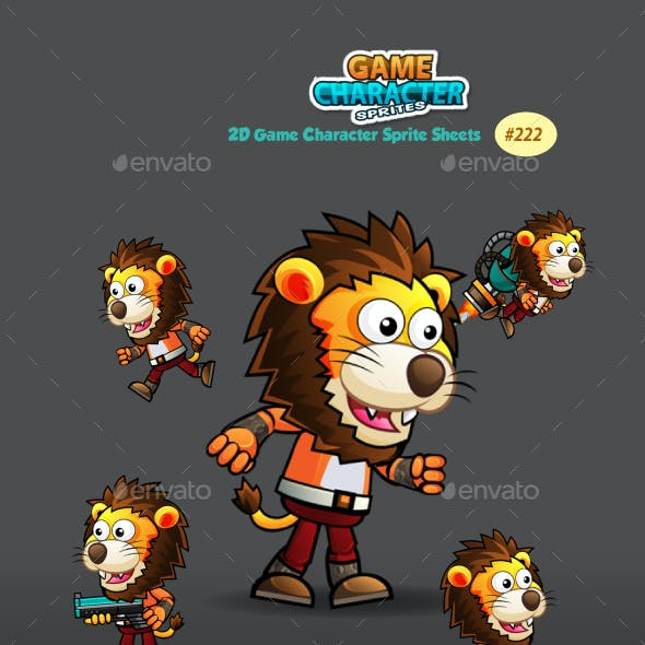 Lion Warrior Game Character Sprites 222