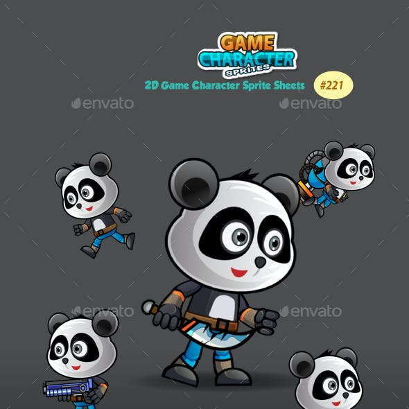 Panda Warrior 2 Game Character Sprites 221