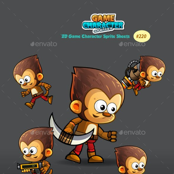 Monkey Warrior 2Game Character Sprites 220