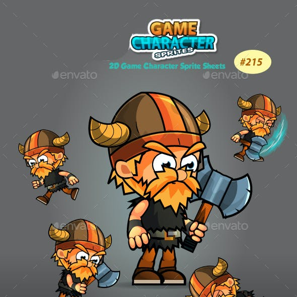 Viking 2D Game Character Sprites 215