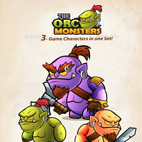 Orcs  2D Game Character Sprites  212