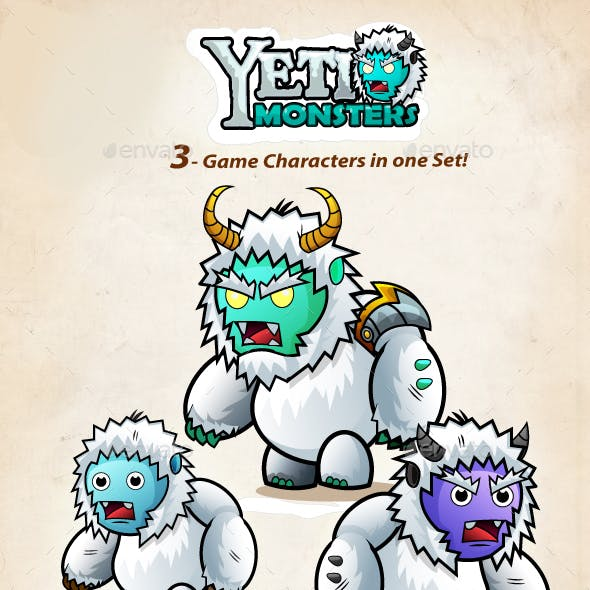Yeti 2D Game Chracter Sprites 211