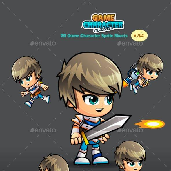 SwordsMan 2D Game Character Sprites 204