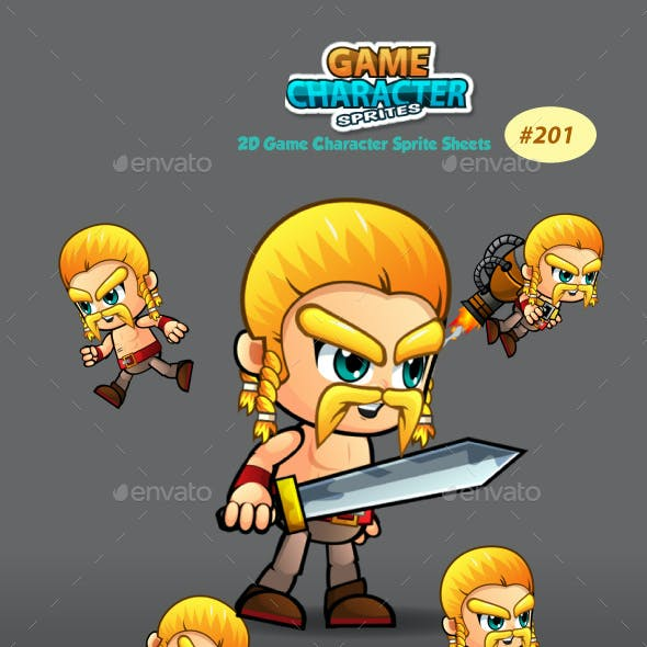 Barbarian 2D Game Character Sprites 201