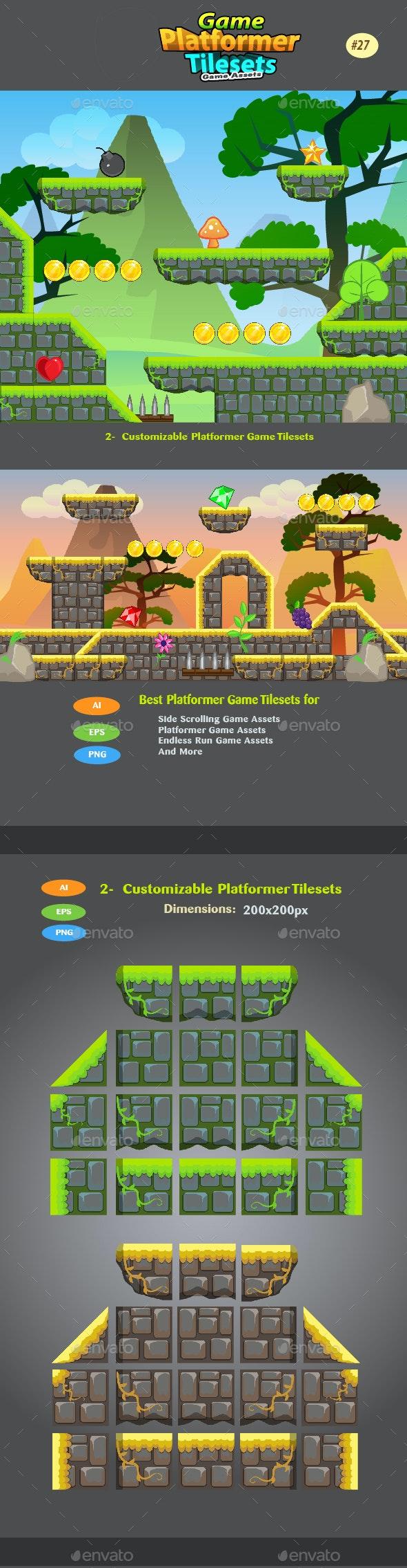 2D Game  Platformer Tilesets 27 - Tilesets Game Assets