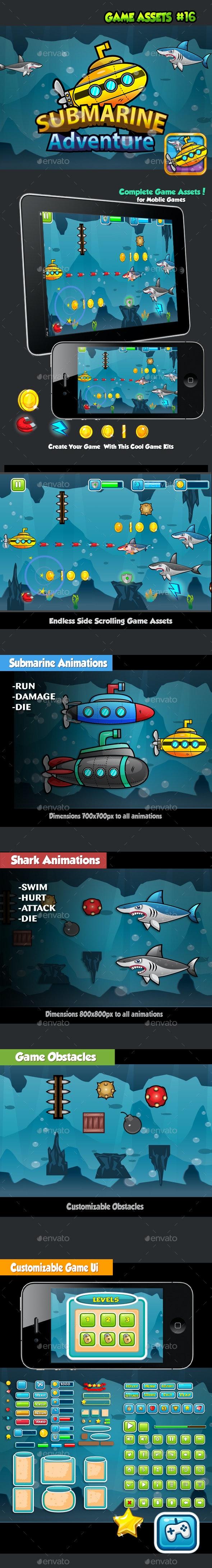 Submarine Adventure Game Kits - Game Kits Game Assets