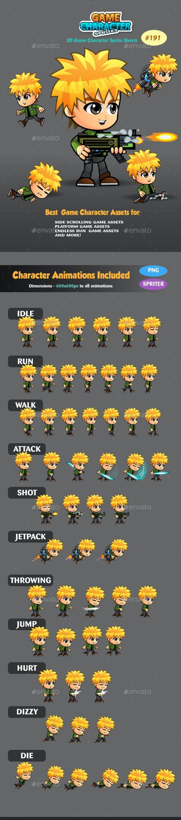 2D Game Character Sprites 191 - Sprites Game Assets