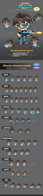 2D Game Character Sprites 190 - Sprites Game Assets