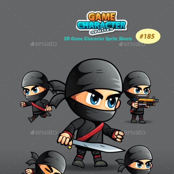 Ninja 2D Game Character Sprite Sheets 185