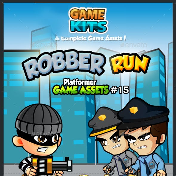 Robber Run Platformer Game Assets 15