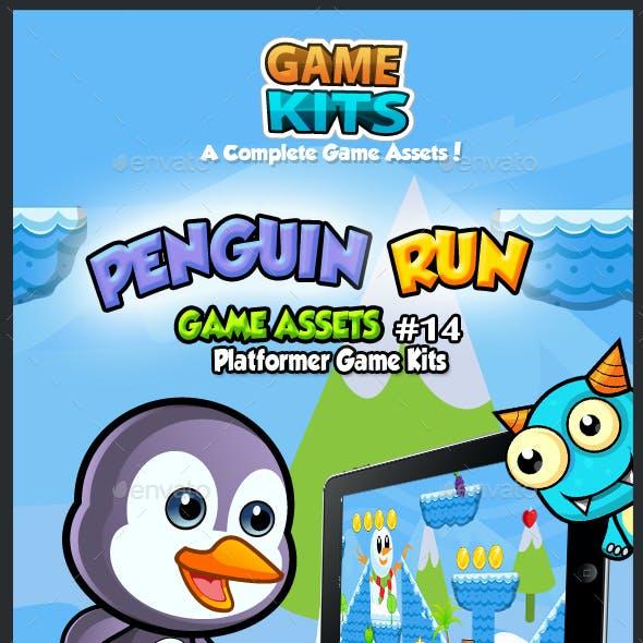 Penguin Run Platformer Game Assets 14