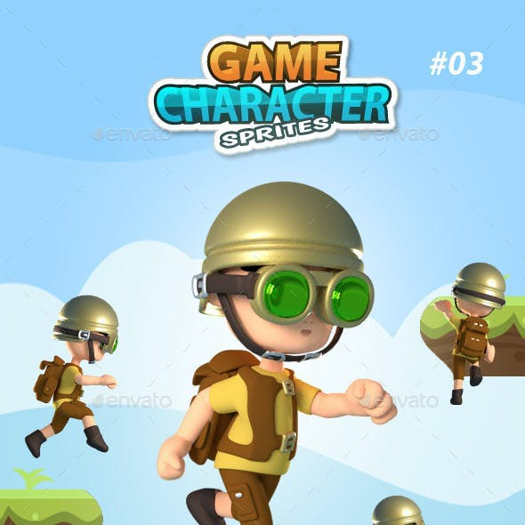 3D Style Game Character Sprites 03