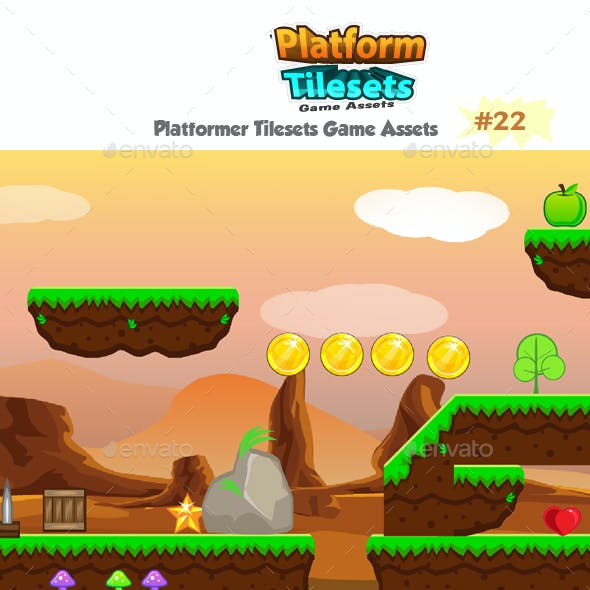 Rocky Place Game  Platformer Tilesets 22