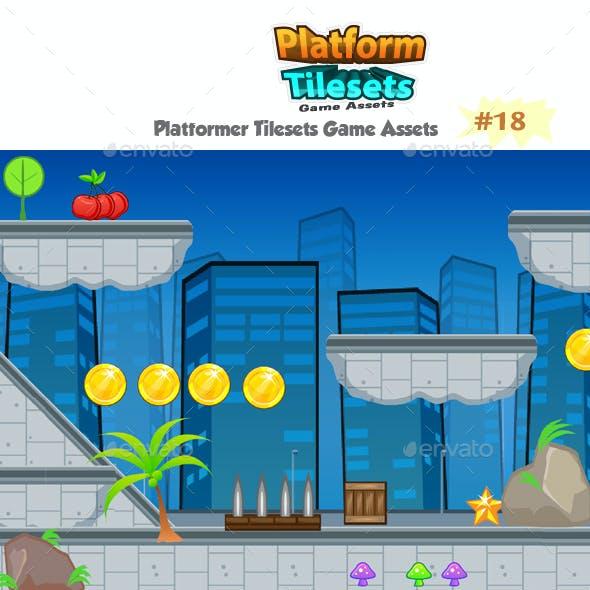 City Platformer Game Tilesets 18