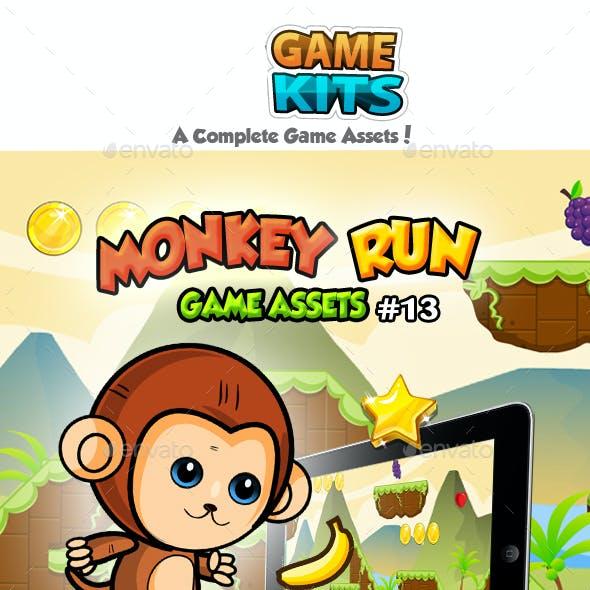 Monkey Run Game Assets 13