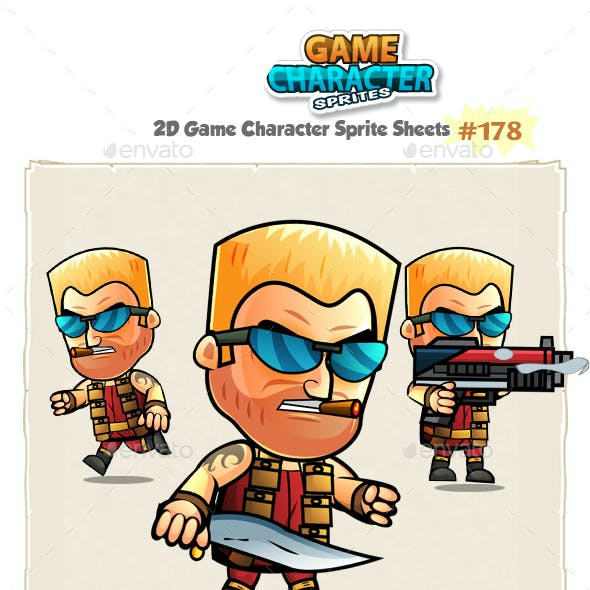 The Soldier 2D Game Character Sprites 178