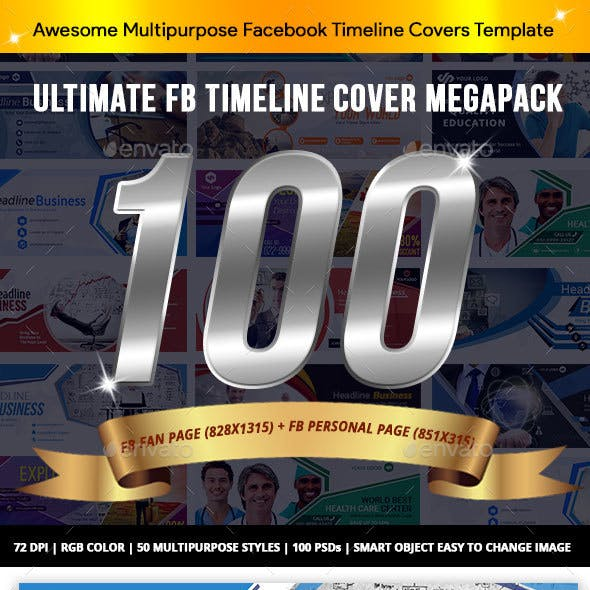 Facebook Cover Ultimate Megapack 100 PSD - AR