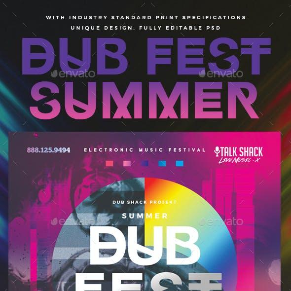 Dub Fest Summer Experimental Poster