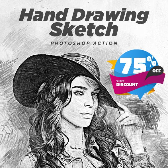 Hand Drawing Sketch Photoshop Action