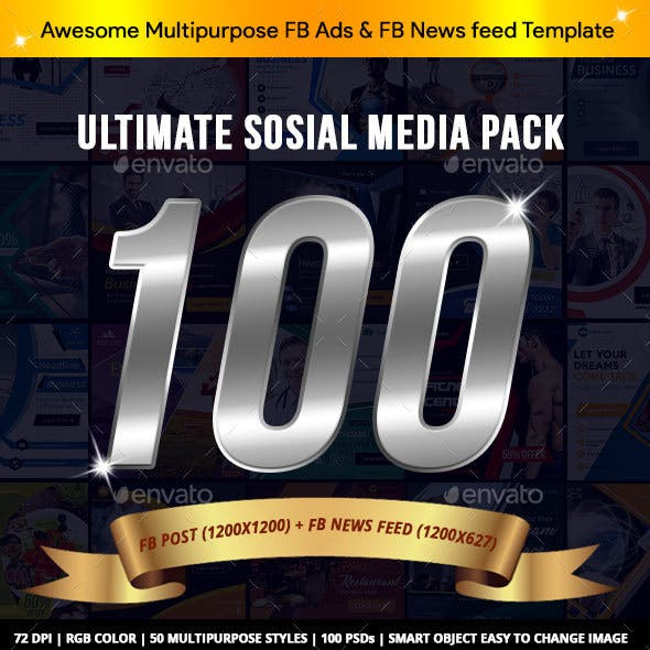 Megapack Social Media Facebook Ads Template - AR