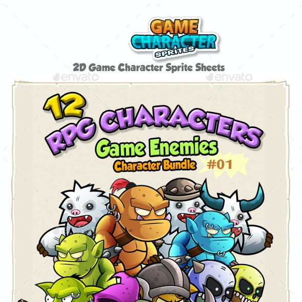 RPG Game Enemies Character Bundle  01