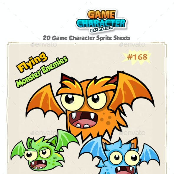 Flying Monster Enemies Game Character Sprites 168