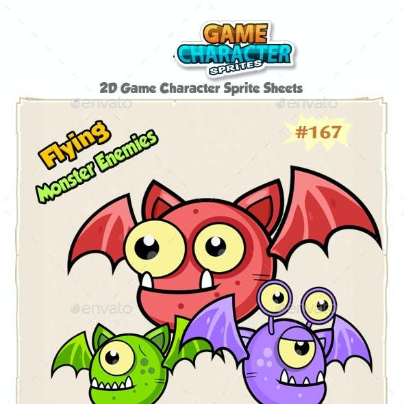 Flying Monster Enemies Game Character Sprites 167