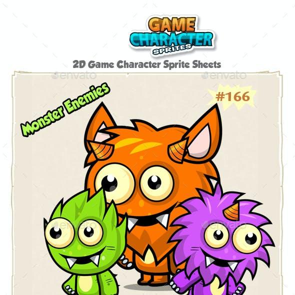 Monster Enemies 2D Game Character Sprites 166