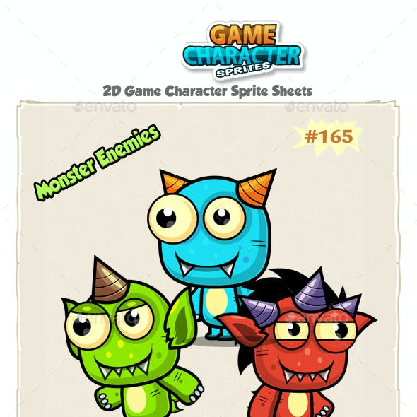 Monster Enemies 2D Game Character Sprites 165