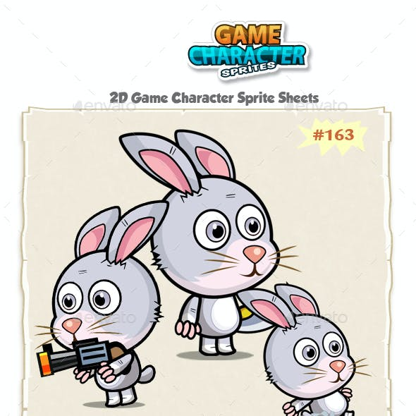 Rabbit 2D Game Character Sprites 163