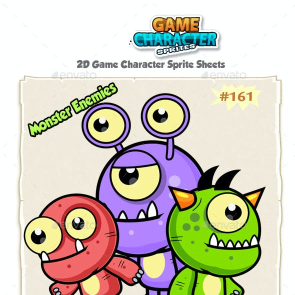 Monster Enemies 2D Game Character Sprites 161