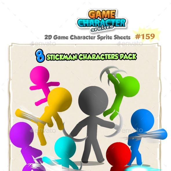 Stickman Character Sprites 159