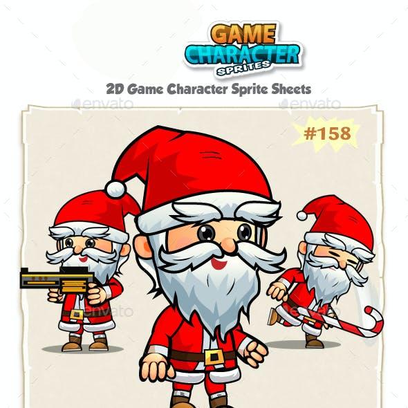 Santa 2D Game Character Sprites 158