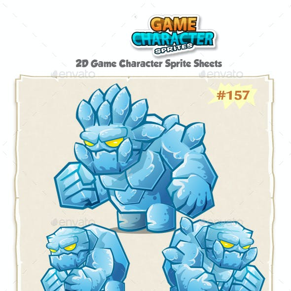 Monster Ice Giant 2D Game Character Sprites 157