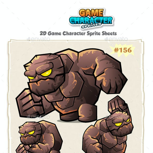 Monster Stone Giant 2D Game Character Sprites 156.