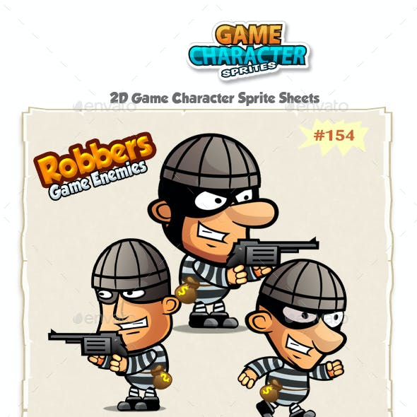 The Robbers 2D Game Characters sprites 154