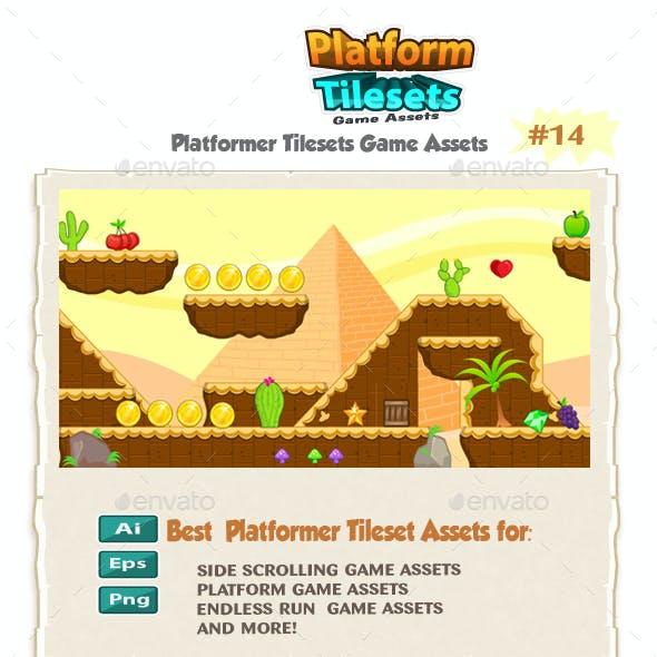Egyptians Platformer Tilesets 14