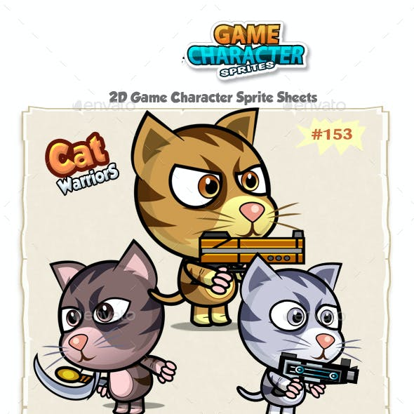 Cutie Cats 2D Game Character Sprites 153