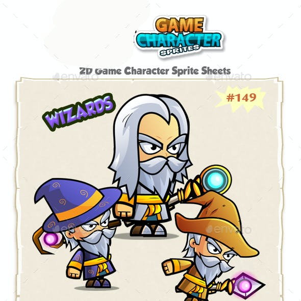 The Wizards 2D Game Character Sprites 149