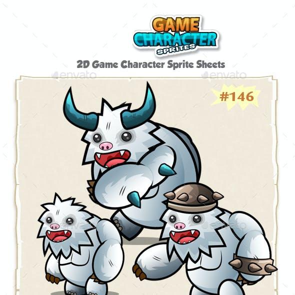 Yeti 2D Game Chracter Sprites 146