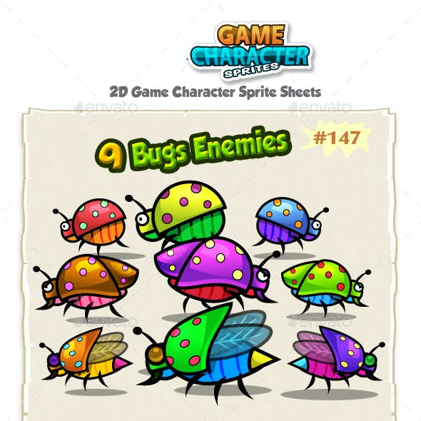 Bugs 2D Game Chracter Sprites 147
