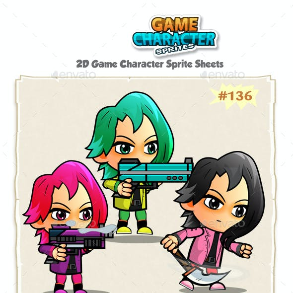 Assassin Girls Game Character Sprites 135