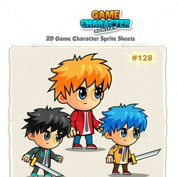 2D Game Character Sprites 128