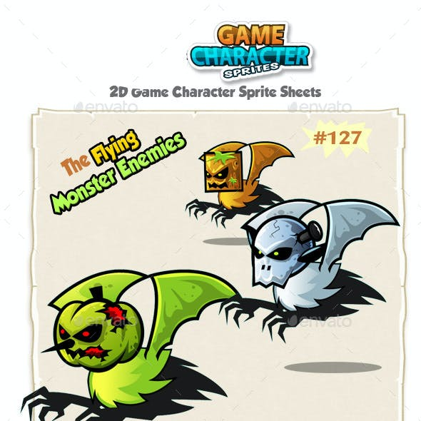 Flying Monster Enemies Character Sprites 127