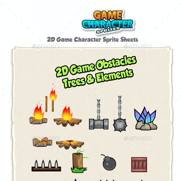 2D Game Obstacles, Trees & Elements