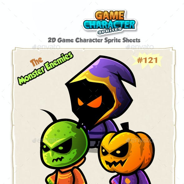 Monster Enemies 2D Game Character Sprites 121