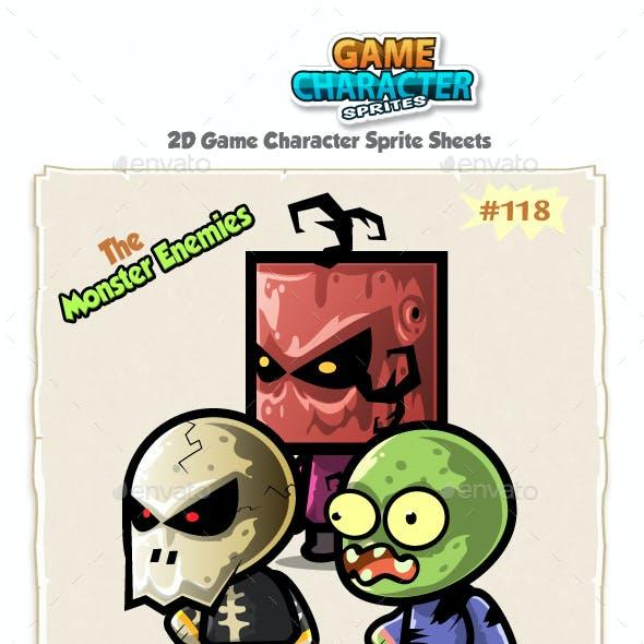 Monster Enemies 2D Game Character Sprites 118
