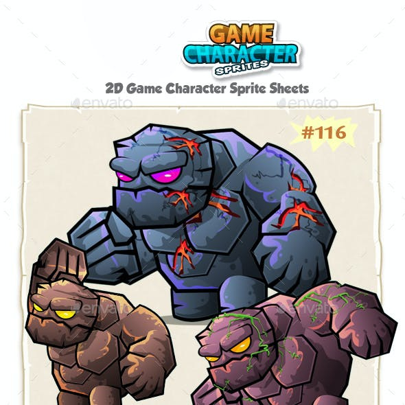Monster Stone Giant 2D Game Character Sprites 116